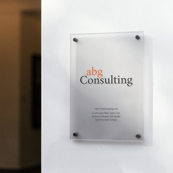 Brand identity design for a consulting firm.
