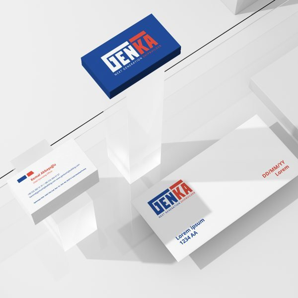 Corporate brand identity for a shipbuilding firm.