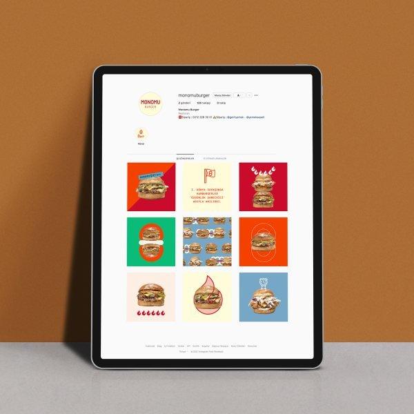 Brand identity design for a hamburger shop.