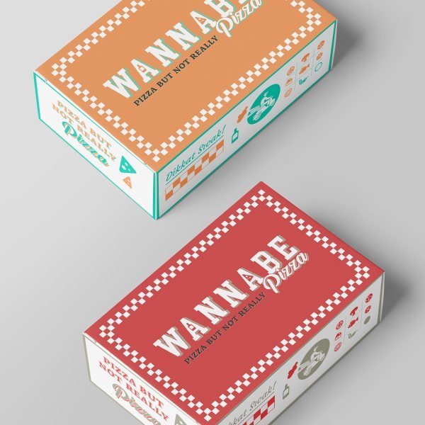 Brand identity for a pizza bar.