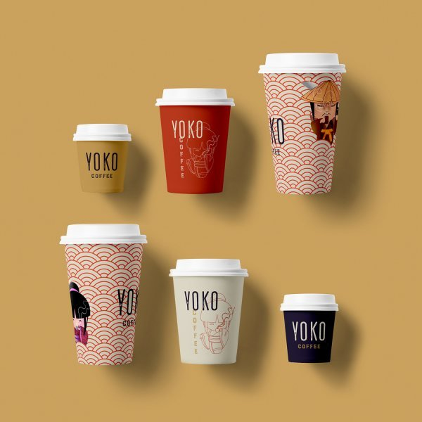 Brand identity for a Japanese inspired coffee shop brand